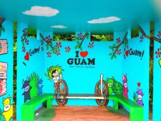 グアムのバス停