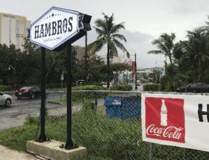 グアムのハンバーガーショップ