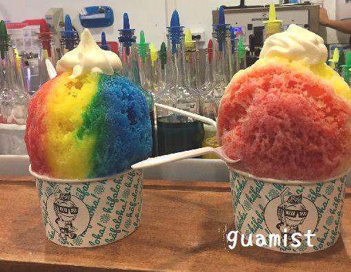 グアムのシェイブアイス店トロピカルかき氷